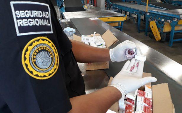 Asegura PF fármacos en el Aeropuerto de San Luís Potosí