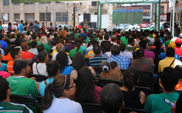 Partido de la selección se verá en la Plaza del Carmen en pantallas gigantes