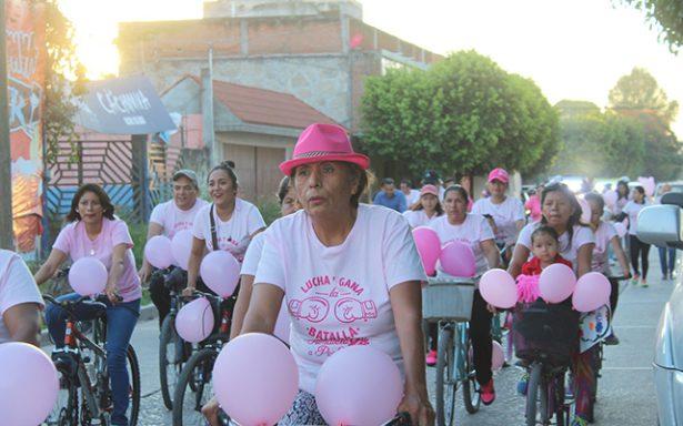 """Con """"Rodada Rosa"""" promueven prevención contra el cáncer de mama"""