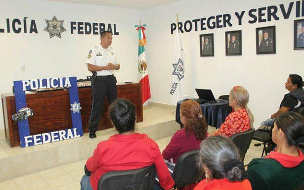 Imparte Policía Federal capacitación de prevención para Adultos Mayores