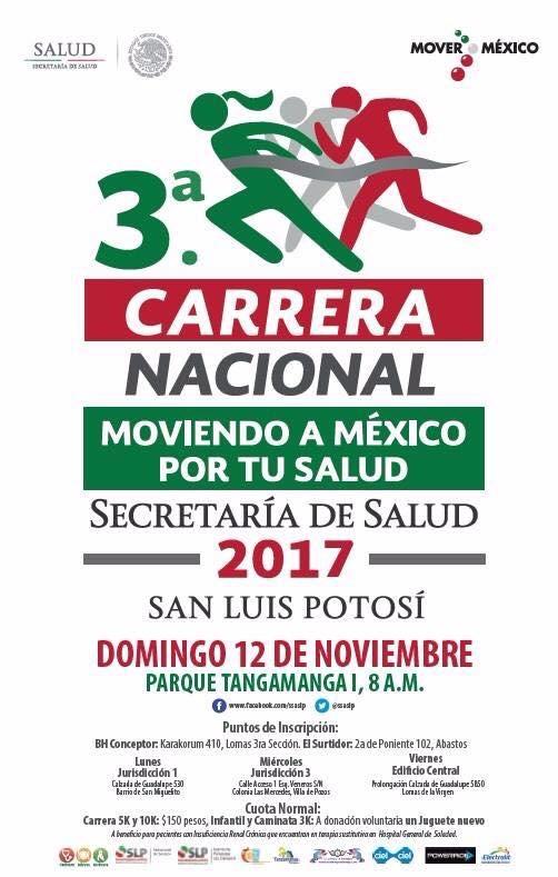 Carrera Moviendo a México por tu salud 2
