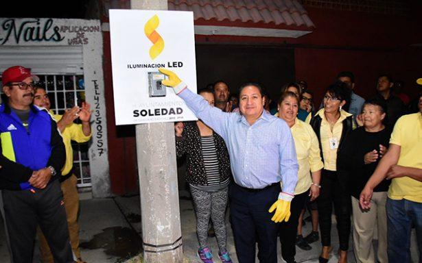 Inauguran iluminación LED en 27 calles de colonia San Francisco y Las Palmas