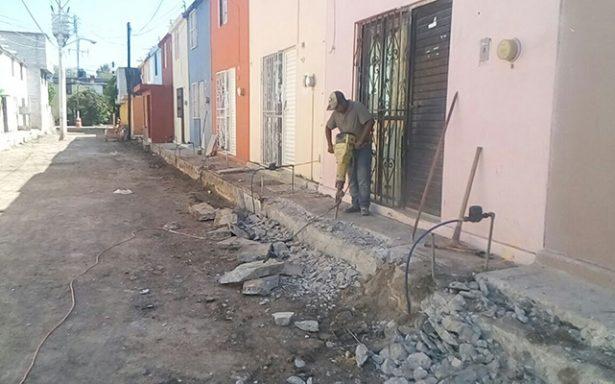 """Continúa la construcción del andador el Limón en Infonavit """"Los Naranjos"""""""