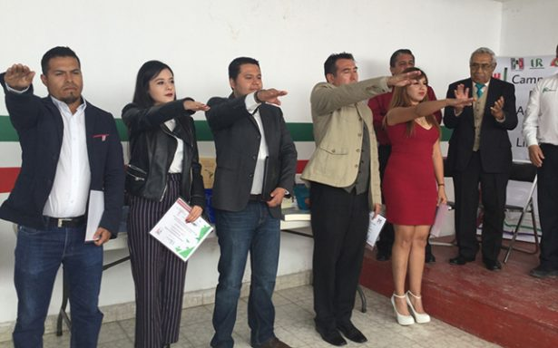 Toman protesta a nuevas directivas de ANUR del PRI en el Altiplano
