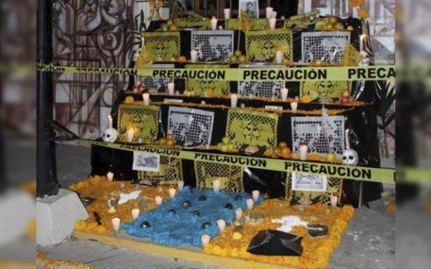 Criminólogos dedican altar de muerto a las víctimas de los asesinos seriales