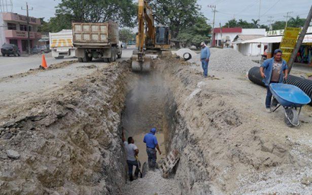 Obras de rehabilitación del colector poniente de la red de drenaje