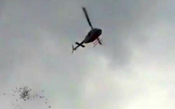 Tirotean helicóptero que supervisaba un operativo en la huasteca