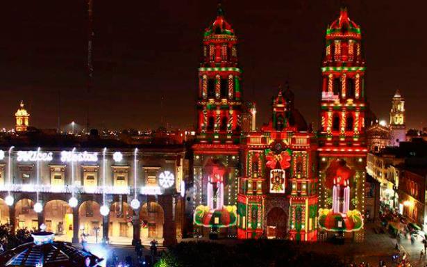 Fiesta de luz navideña en San Luis Potosí
