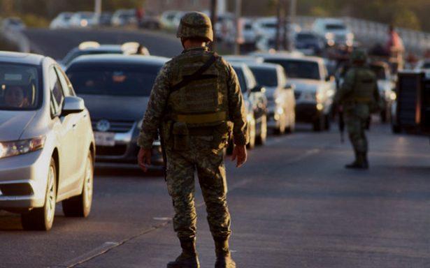 Presencia permanente de ejército reduce incidencia delictiva