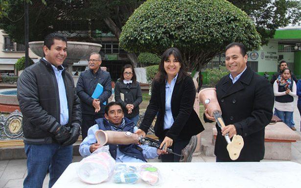Entregan prótesis y férulas en apoyo a personas con discapacidad en Rioverde