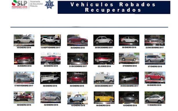 """""""Invierno Seguro"""", recupera 194 unidades con reporte de robo"""