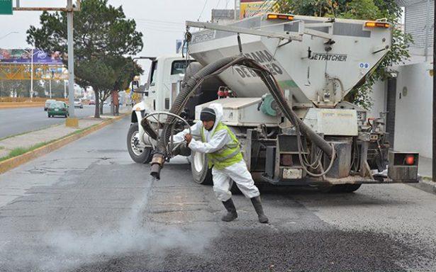 Trabajos de bacheo son de alta calidad: Obras Públicas