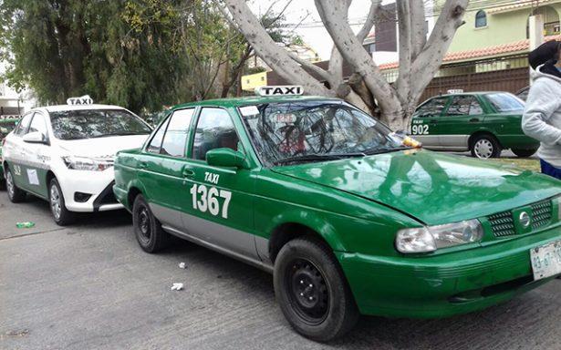 Manifestación de taxistas contra inseguridad y piratas