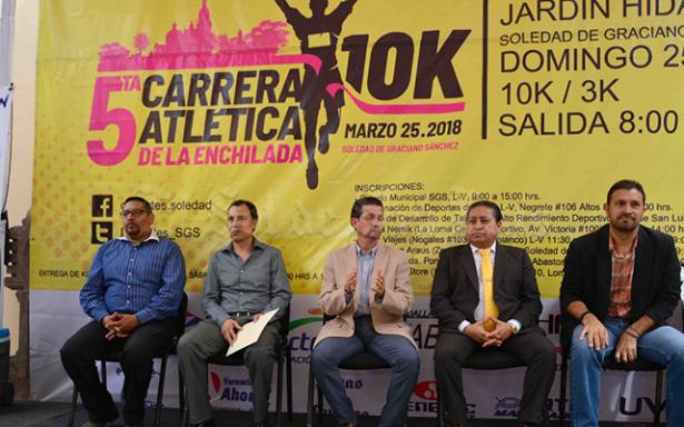 """Presentan la 5ta. Carrera Atlética 10K """"De la Enchilada"""""""