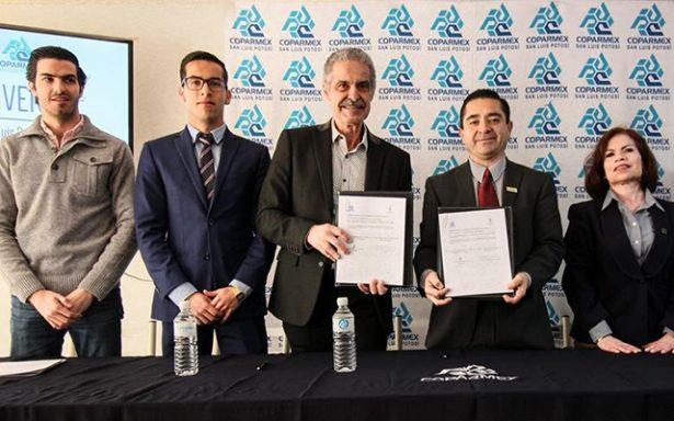 Coparmex firma convenio con Universidad Marista