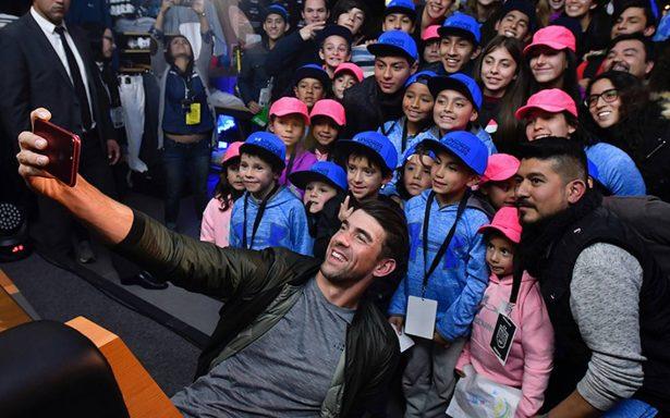 Michael Phelps visitó nuestro país para inaugurar tienda de una marca de ropa