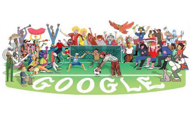 Google se contagia de la fiebre del Mundial y ¡lanza doodles futboleros!