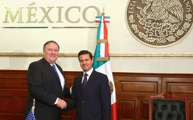 Estos son los temas que abordó Peña Nieto con Mike Pompeo y comitiva de EU