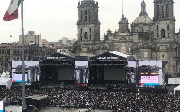 ¡Listo el Zócalo para el concierto  #EstamosUnidosMexicanos!