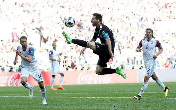 #Rusia2018: Islandia humaniza a Messi en el empate 1-1