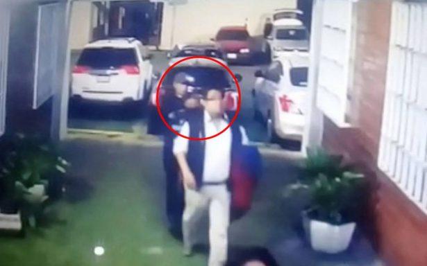 [Video] Por detrás y a la cabeza, así asesinaron a agente ministerial en la GAM