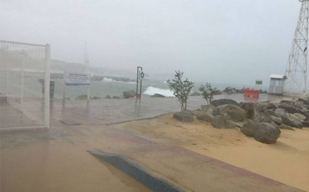 """Cancelan vuelos en el aeropuerto de San José del Cabo por """"Bud"""""""