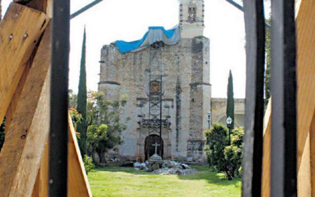 Se prevé restauración de templos en 2020; hay 279 en proceso de obra