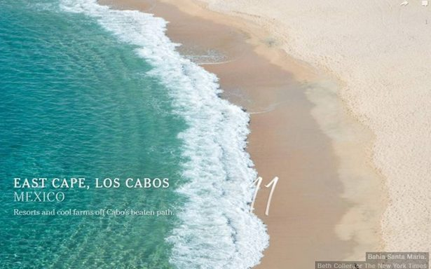 Los Cabos y el Caribe figuran en los 52 destinos recomendados por The New York Times