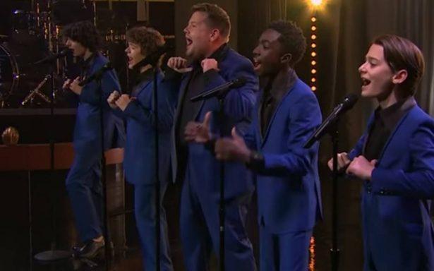 James Corden y los chicos de Stranger Things: los nuevos Jackson 5