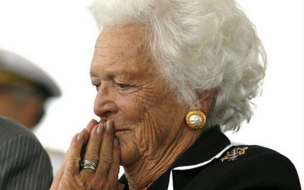 Barbara Bush, exprimera dama de EU rechaza someterse a nuevos tratamientos médicos