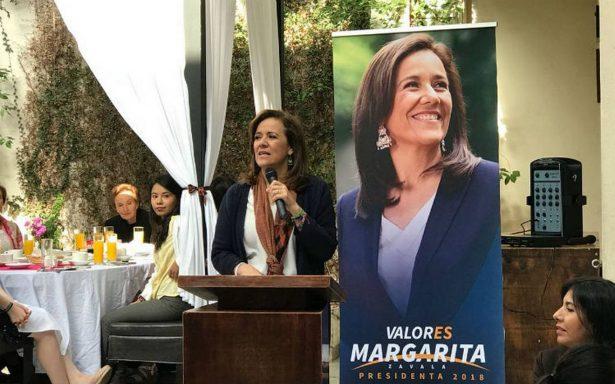 Combatir inseguridad, la prioridad: Margarita Zavala