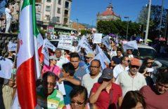 Así se realizan las marchas contra el gasolinazo en el país