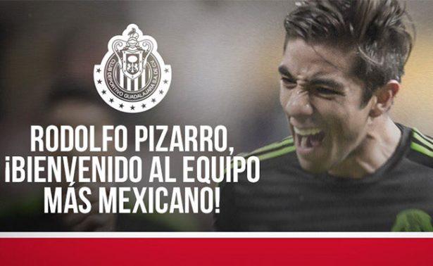 Rodolfo Pizarro llega a las Chivas de Guadalajara