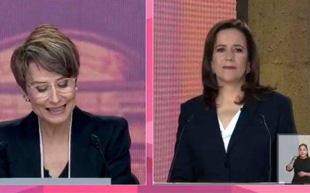 Margarita Zavala tardó casi 20 minutos en participar en el debate presidencial