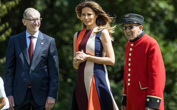Melania Trump visita el Royal Hospital Chelsea de Londres