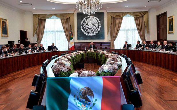 Peña Nieto se reúne con su Gabinete y llama a respetar proceso electoral