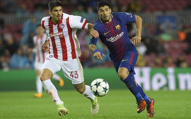 Barça derrota al Olympiacos pese a su poderosa defensa en la Champions League