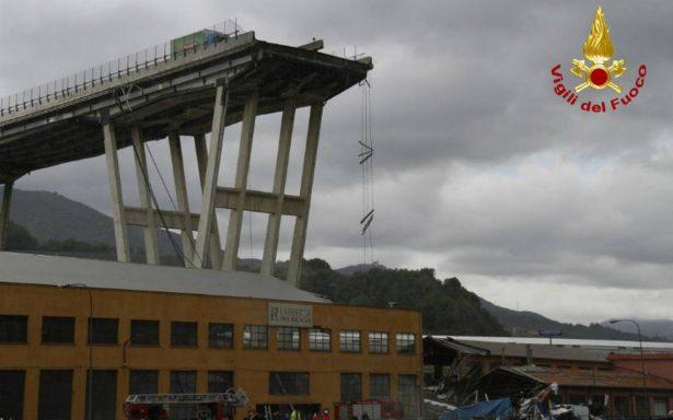 Derrumbe de puente en Génova es uno de los más graves de Europa