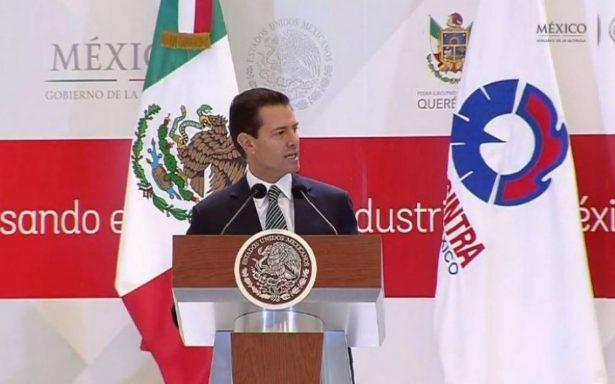 Peña Nieto participará en la Convención Nacional de la Canacintra en Querétaro