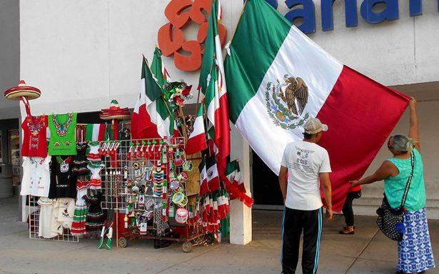 Patriotismo favorece a vendedores de banderas