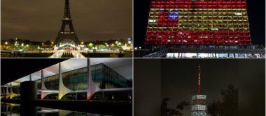 Monumentos emblemáticos rinden tributo a los caídos de Barcelona