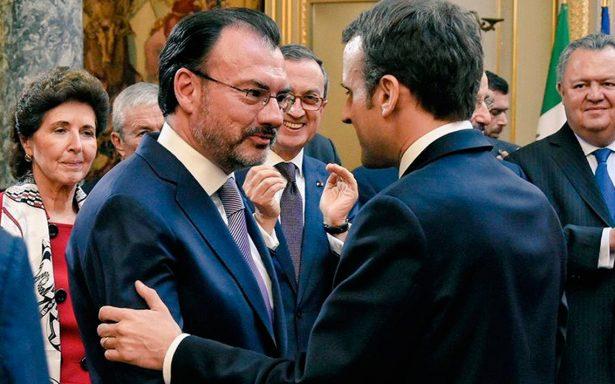Videgaray se reúne con el presidente Emmanuel Macron y reafirman alianza Franco-Mexicana