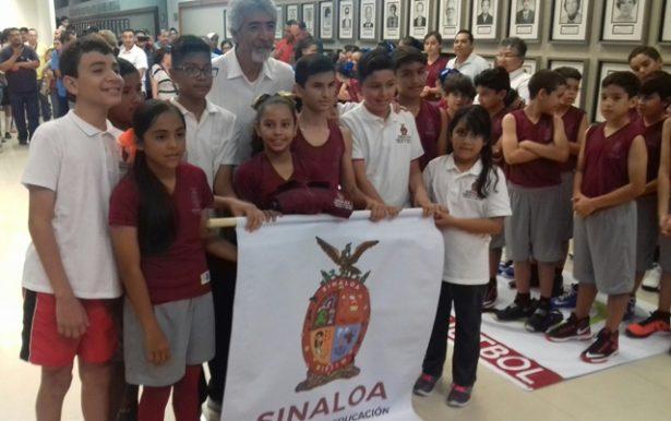 Abanderan a Sinaloa para justa deportiva