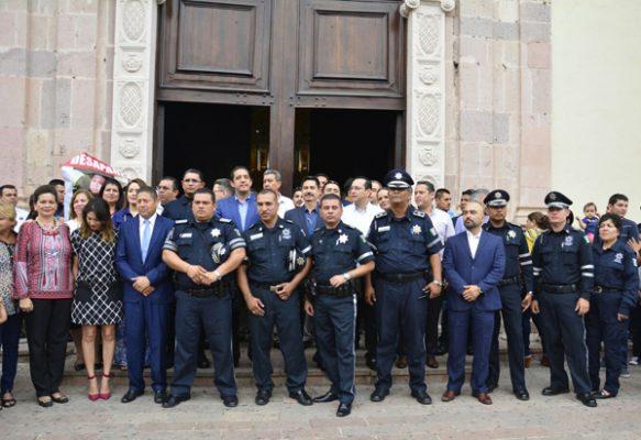 """Autoridades municipalesconmemoran el """"Día del Policía"""""""