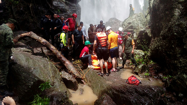 Ubican el cuerpo del joven en la cascada San Antonio