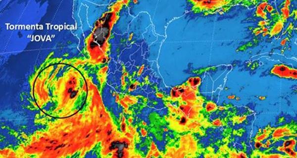 Jova, la tormenta tropical que provoca lluvias