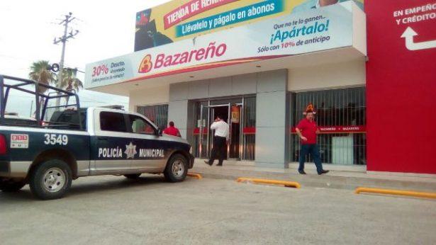 Se prende la casa de empeño Bazareño por carretera a Sanalona