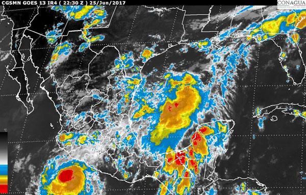 Se formó ciclón frente a Guerrero
