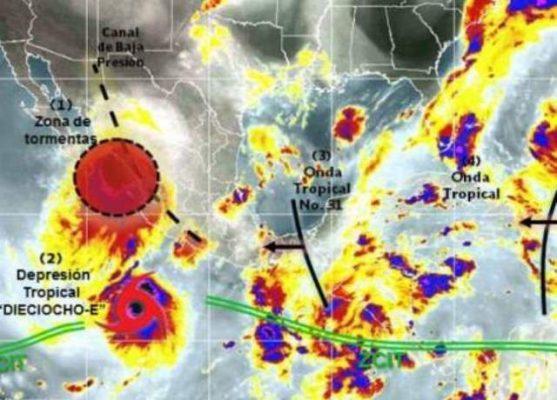 Ciclón se dirige a Sinaloa; el martes estará en Mazatlán