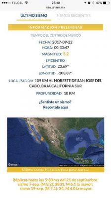 Tiembla en la zona centro de Sinaloa
